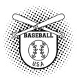 usa baseball sport game in black and white vector image vector image