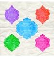 Vintage labels set colorful frames design elements vector image