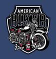 vintage motorcycle emblem vector image vector image