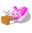with box shoes baby above the character rak vector image vector image