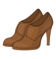 Womens shoes on platform icon cartoon style vector image vector image
