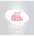 A Gift in a White Cloud vector image