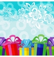 Holiday Background with Gift Boxes vector image
