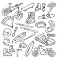 Extreme doodle set vector image