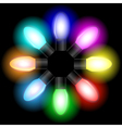 garland bulbs set vector image