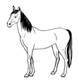 a horse painted by hand vector image