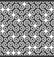 abstract black metaballs path geometric seamless vector image