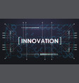 abstract digital technology background creative vector image vector image