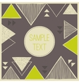 Abstract hand drawn triangle background Tribal vector image vector image