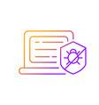 antivirus software gradient linear icon