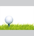 background with golf ball vector image vector image