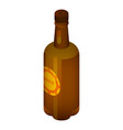beer bottle icon isometric style vector image vector image