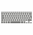 black computer keyboard vector image