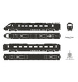 black silhouette modern train vector image