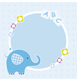 blue elephant framework vector image