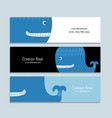 blue whalebanners design vector image vector image
