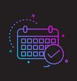 calender icon design vector image vector image