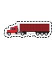cargo truck icon vector image vector image