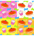 cartoon sweets seamless pattern vector image vector image