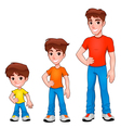 Child boy and man description of age vector image vector image