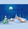 christmas night scene vector image