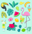 collection summer party icons vector image vector image