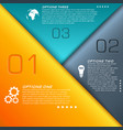 colorful business infographics vector image vector image