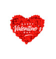 creative valentines day red heart stylish vector image vector image