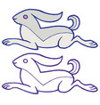 cute like engraving bunny vector image vector image