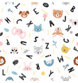 cute seamless pattern with baby animals vector image