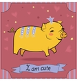 Cute Yellow Pig vector image vector image