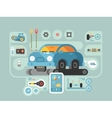 diagnostics machines in service station vector image vector image
