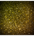 Disco abstract golden neon background vector image vector image