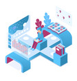 distance learning isometric vector image vector image