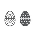 easter egg line and glyph icon decor and easter vector image vector image