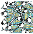 fish background design vector image vector image