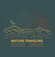 Flat line style travel banner
