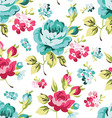 Floral seamless pattern with blue roses vector image