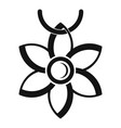 flower necklace icon simple style vector image vector image