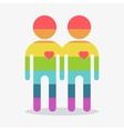 gay couple boy in love vector image vector image