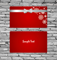 Gift Cards with gift bows and ribbons vector image vector image