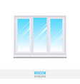 glass window with sill vector image vector image