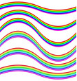 Graphic design element set - rainbow ribbons vector image vector image