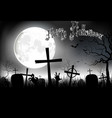 halloween background night with in graveyard vector image vector image