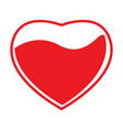 heart shape with blood vector image