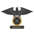 Heraldic eagle 22 vector image vector image