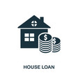 house loan icon line style icon design from vector image vector image
