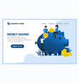 investment concept with people outing money vector image vector image