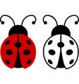 ladybug ladybird set cute bug insect vector image vector image