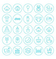 Line Circle Baby Child Icons Set vector image vector image